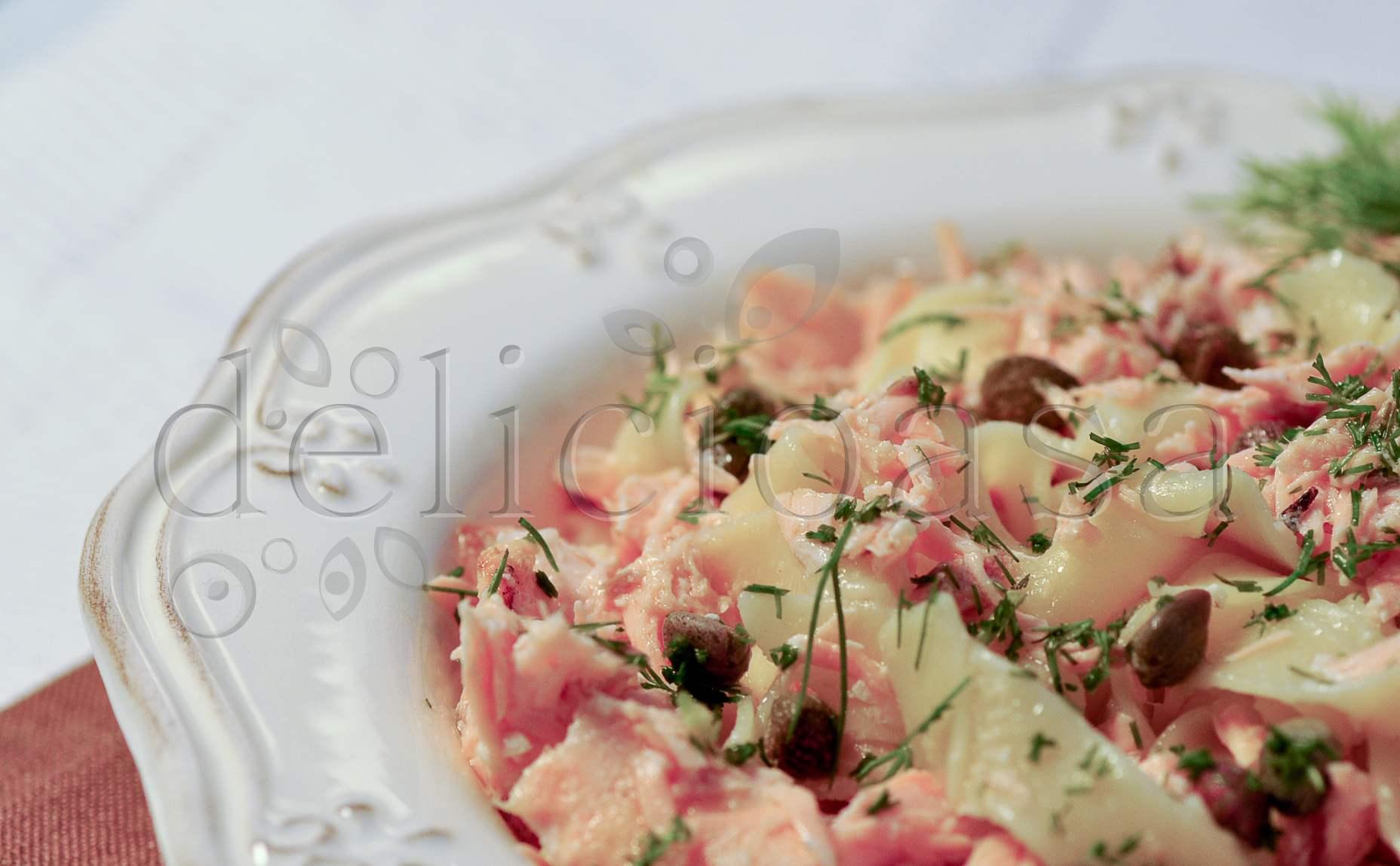 Pasta cu somon si capere delicioasa for Cu ci na roma