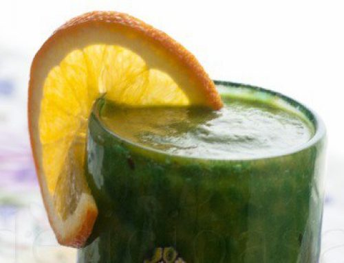 Smoothie verde: banane si mere & portocale si catina