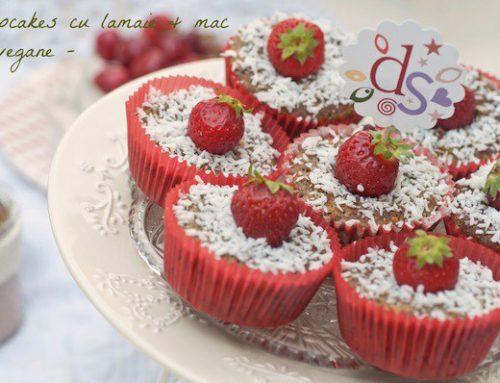 Cupcakes cu lamaie si mac – vegane/de post