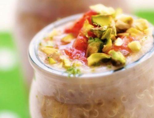 Budinca de quinoa & capsuni – vegana/de post