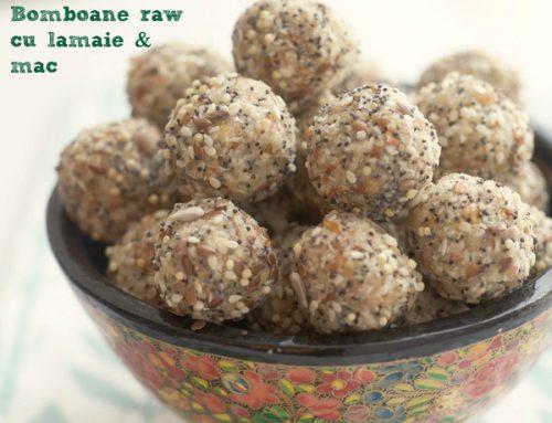 Bomboane cu lamaie & mac – raw vegan/hrana vie